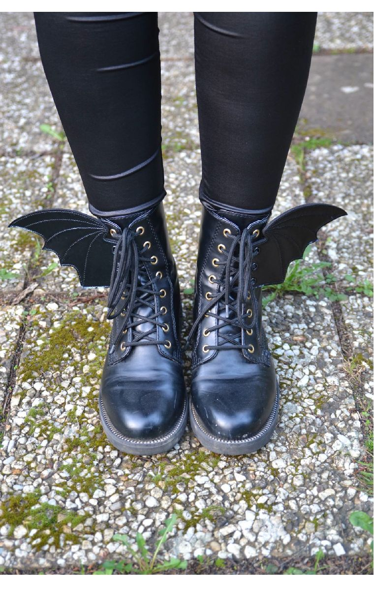 Bat Wings For Shoes - Black