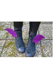 Bat Wings For Shoes - Purple