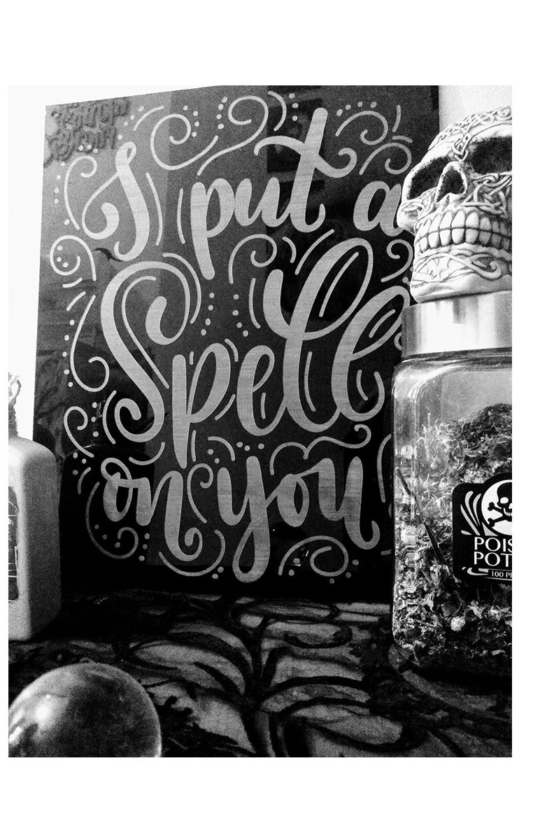 Spell On You Etched Sign