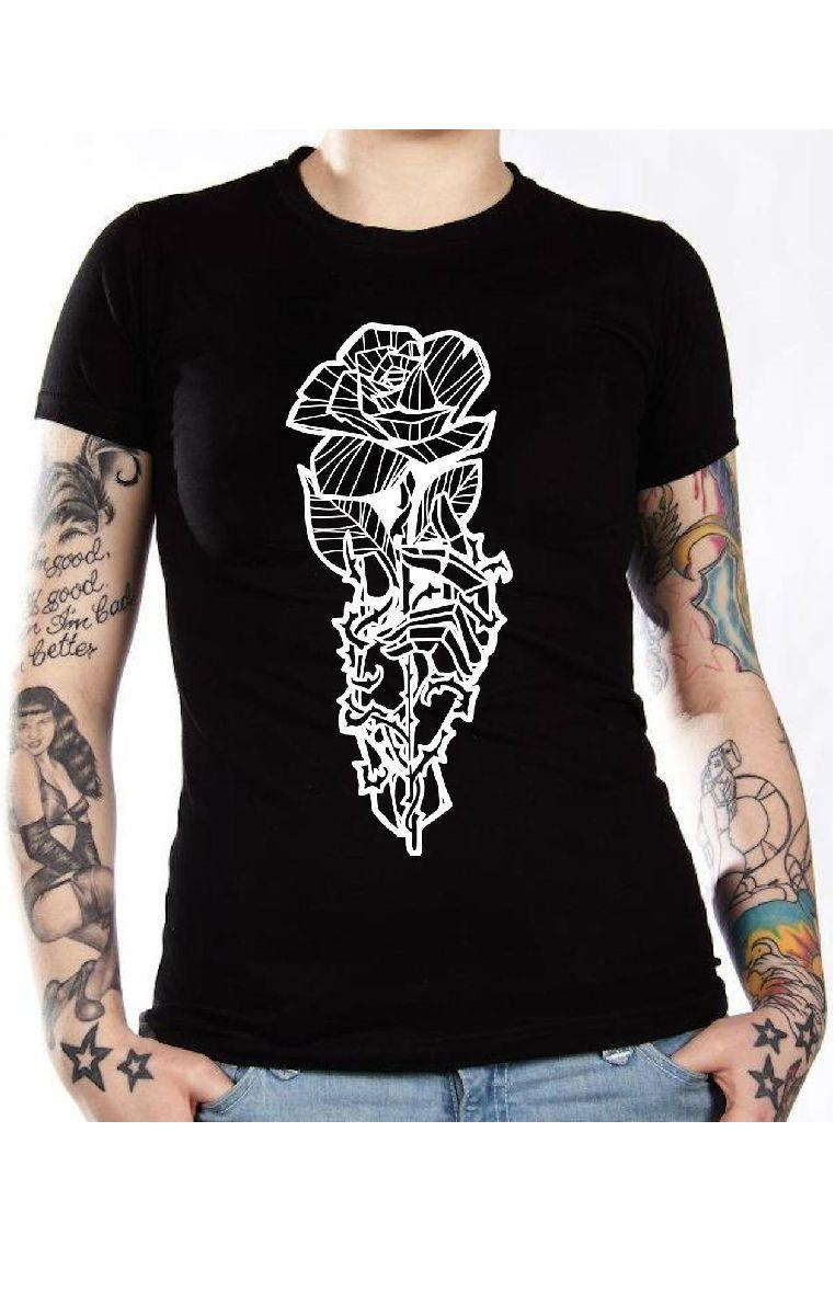 Skeleton Rose T Shirt