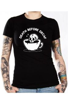 Death Before Decaf Mens T Shirt