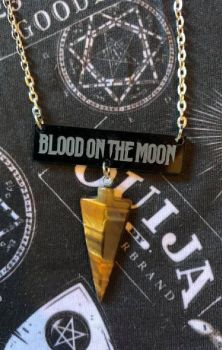 Blood On The Moon Tigers Eye Necklace