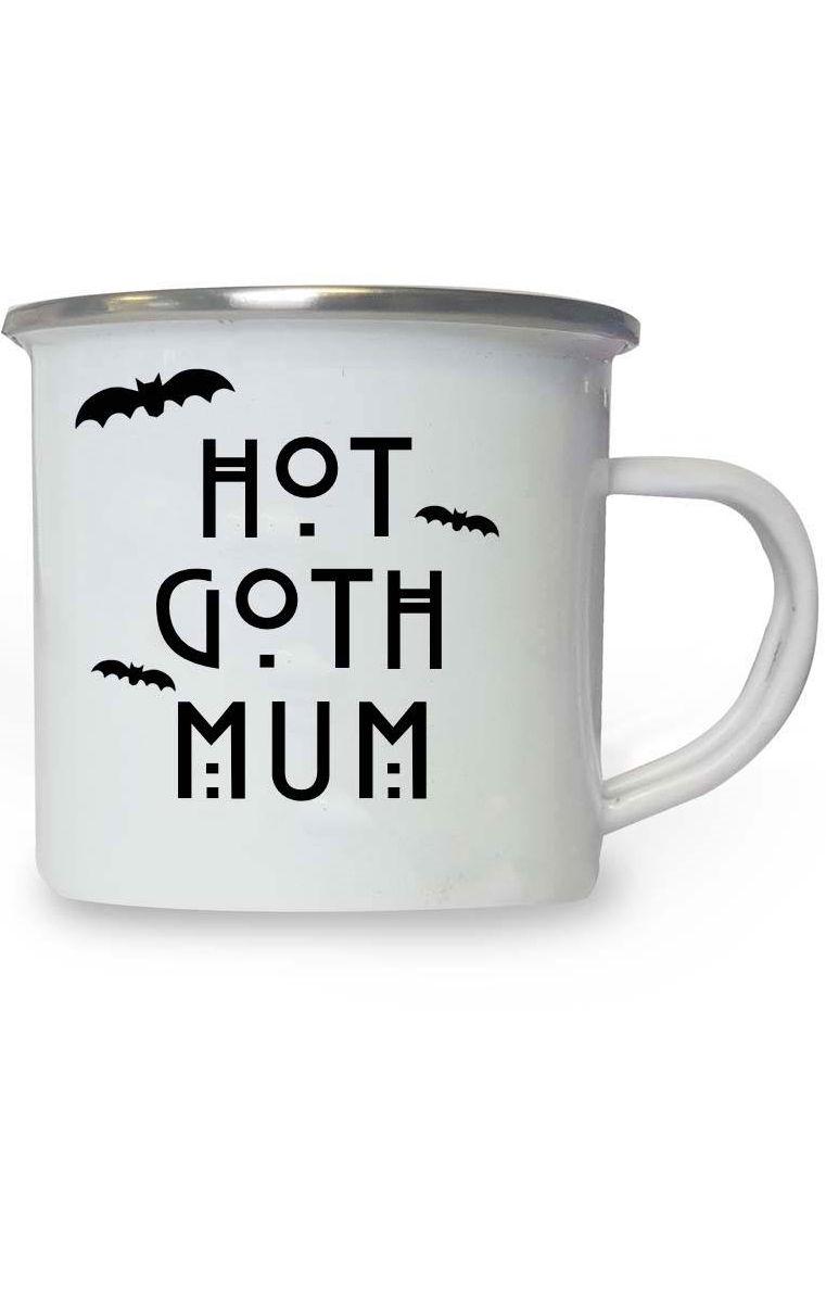 Hot Goth Mum Enamel Mug