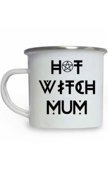 Hot Witch Mum Enamel Mug