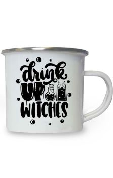 Drink Up Witches Enamel Mug