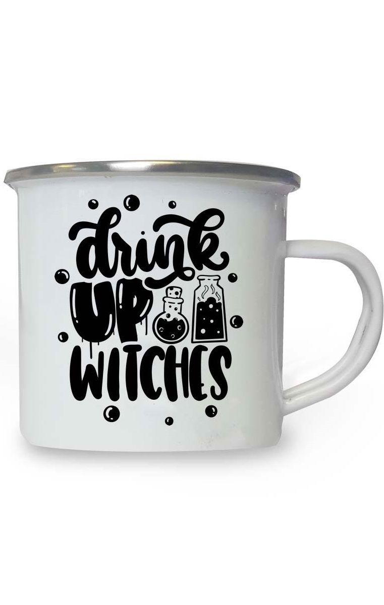 Drink Up Witches Enamel Mug