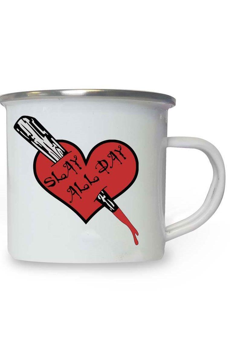 Slay All Day Enamel Mug