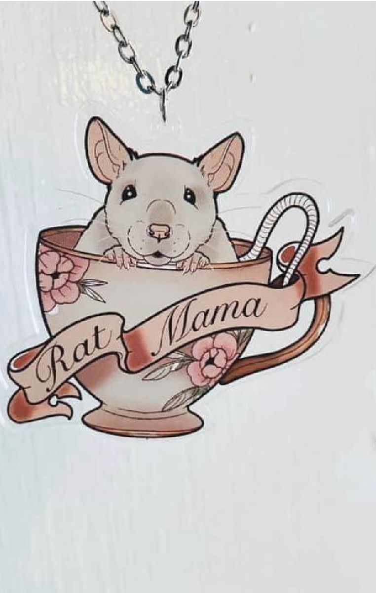 Rat Mama Teacup Necklace