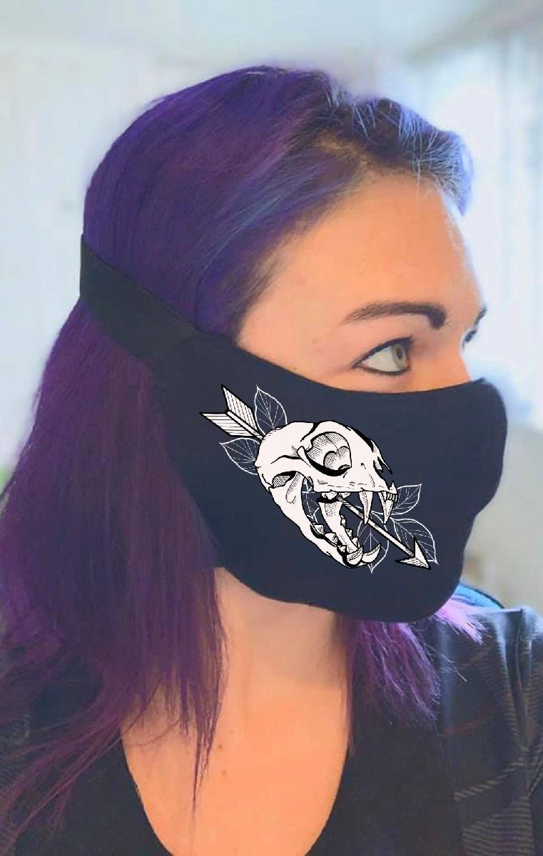 Skull Arrow V Mask