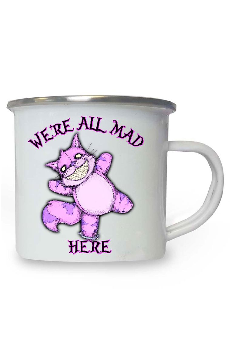 We're All Mad Enamel Mug