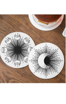 Moon Burst Coasters