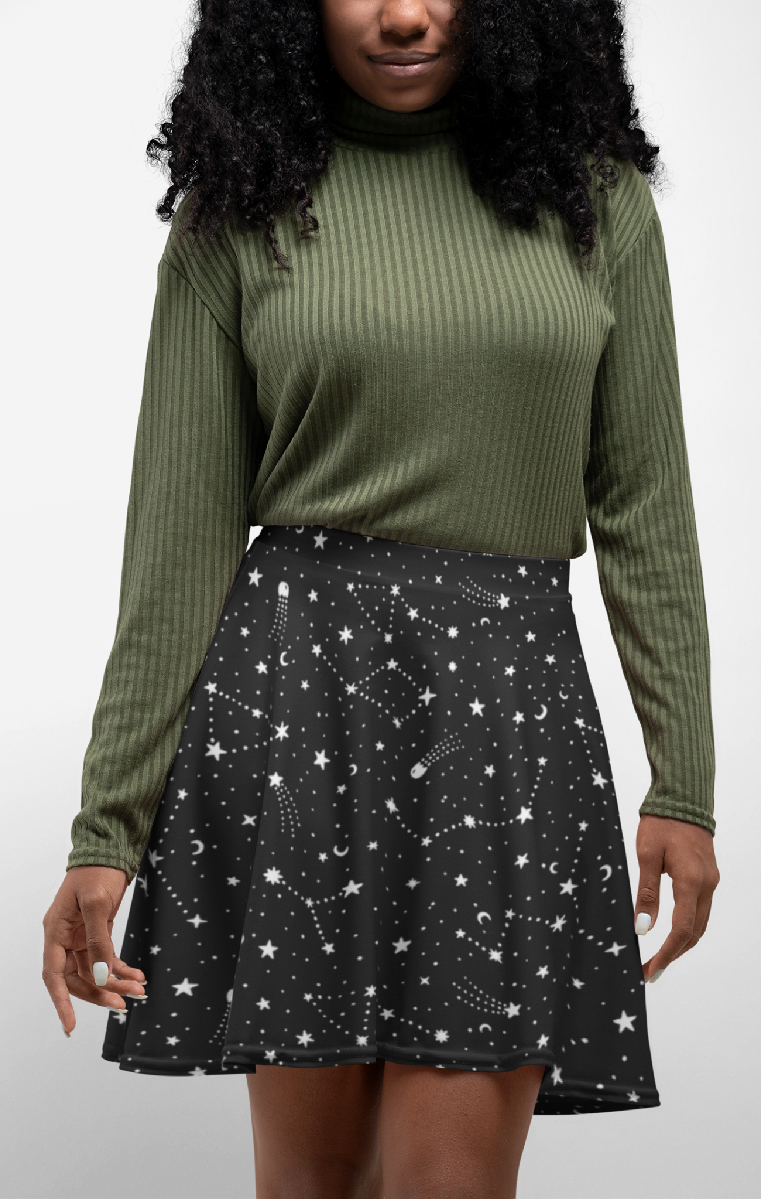 Written In The Stars Skater Skirt