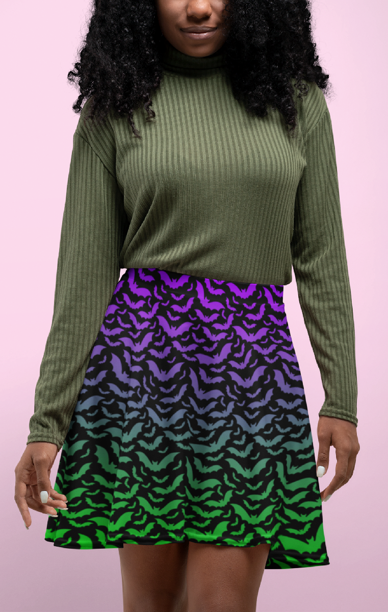 Ombre Chiroptera Skater Skirt