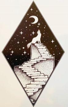 Celestial Stairway Print