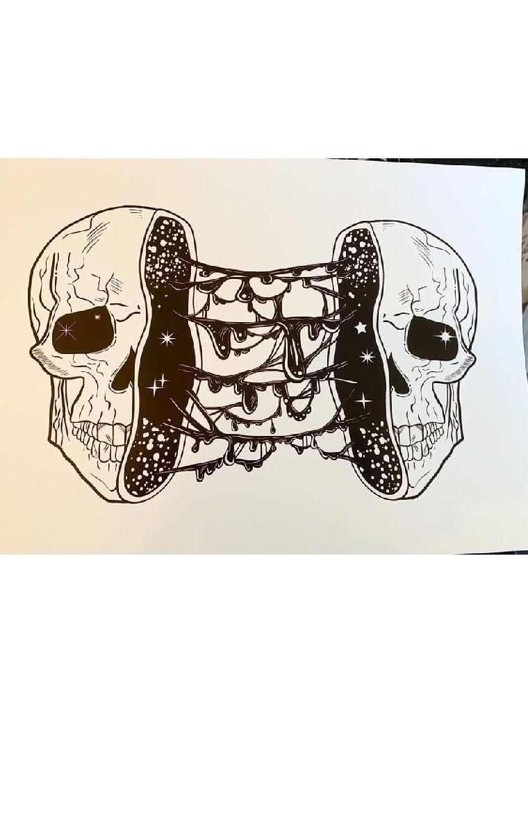 Split Skull Print