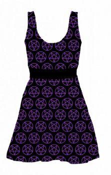 All Pent Up Skater Dress Purple