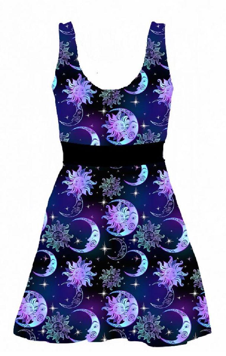Celestial Skater Dress