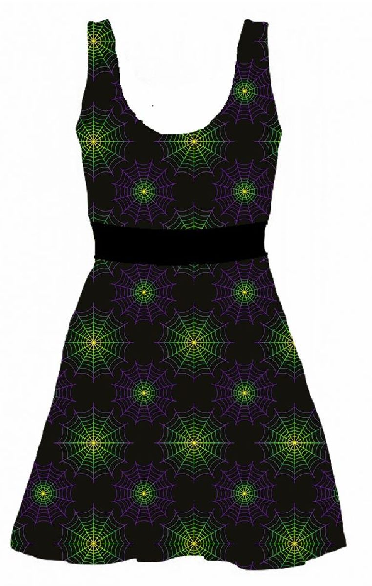 Wicked Web Skater Dress