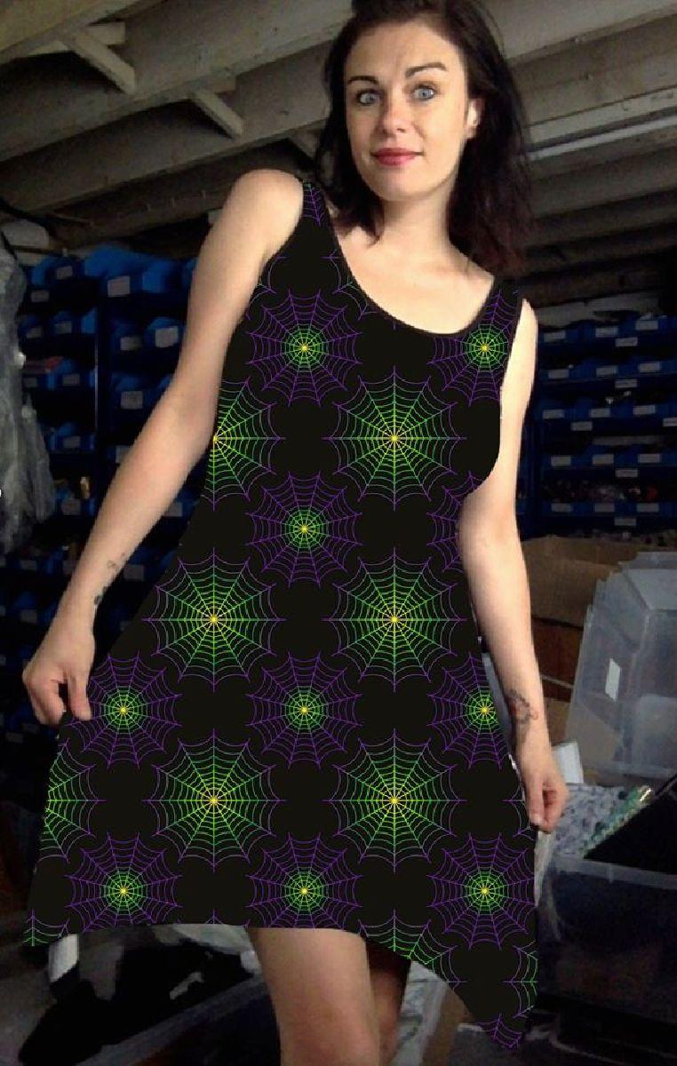 Wicked Web Vest Dress