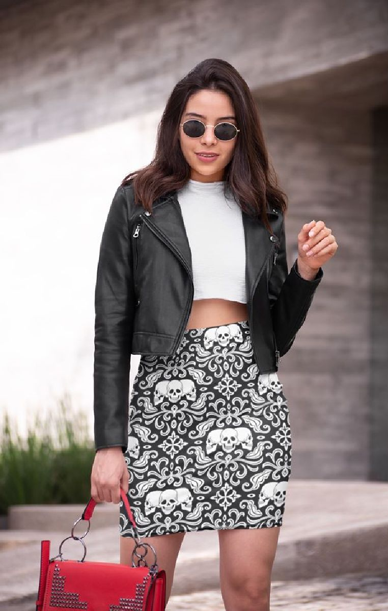Cranium Pencil Skirt