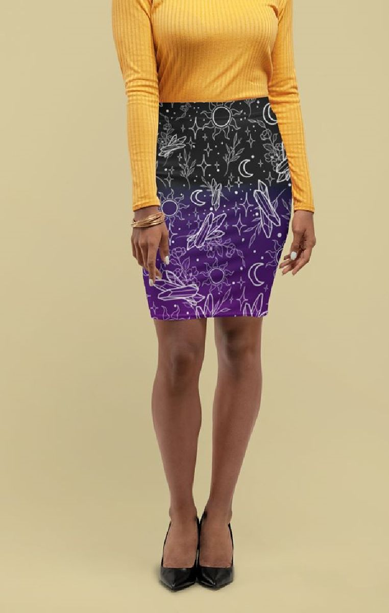 Crystals Pencil Skirt