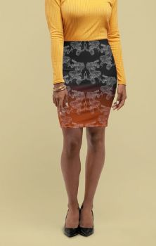 Dragons Pencil Skirt