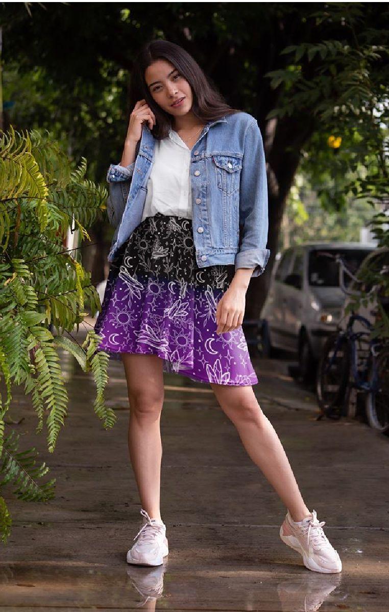 Crystals Skater Skirt