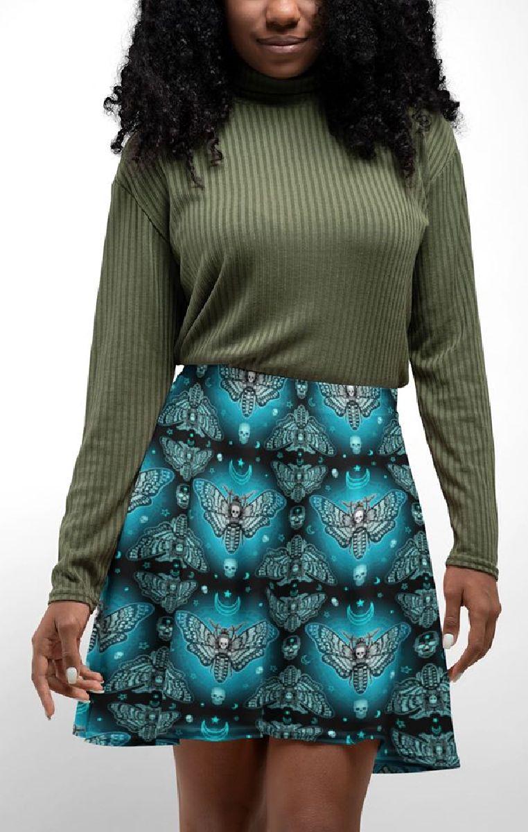 Midnight Moth Skater Skirt