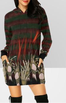 Elm Street Hooded Dress