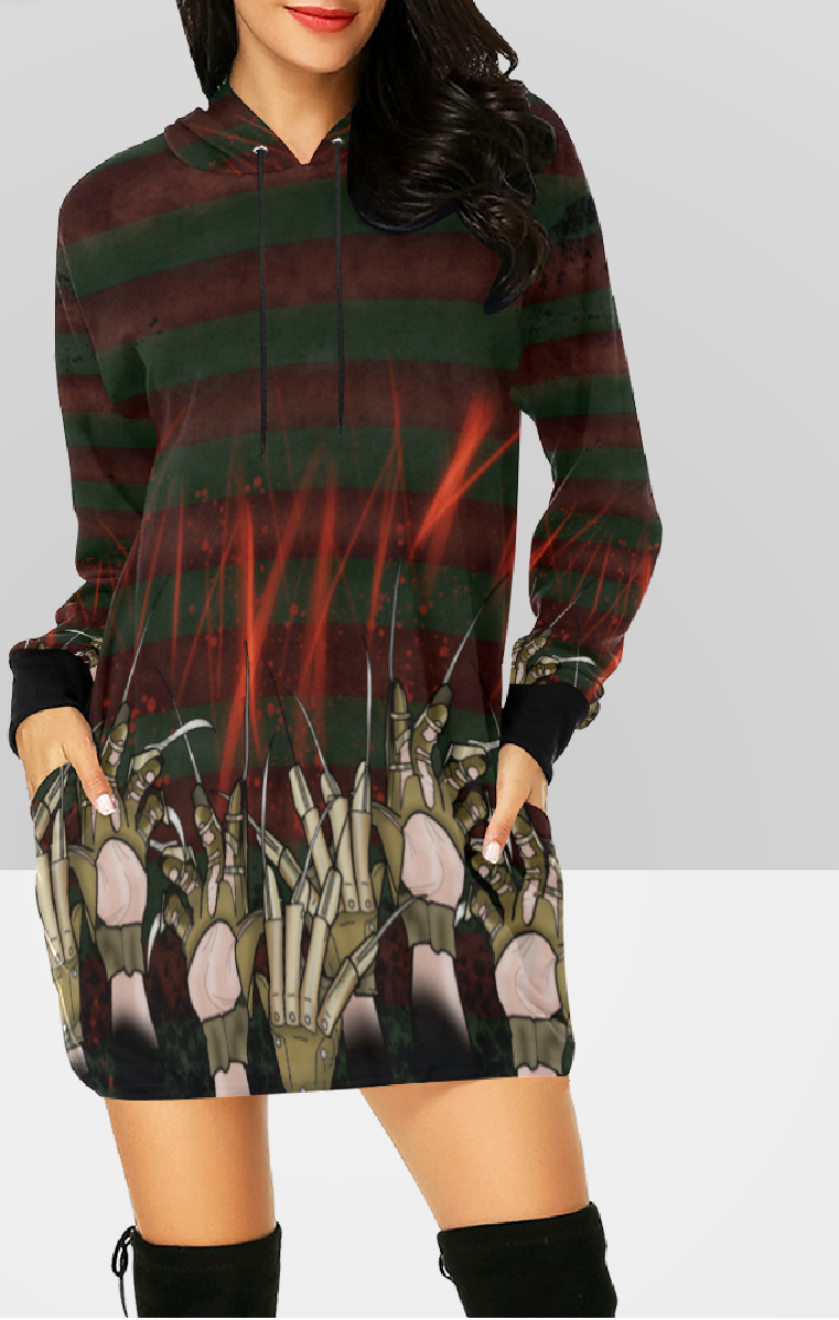 Elm Street Hooded Dress
