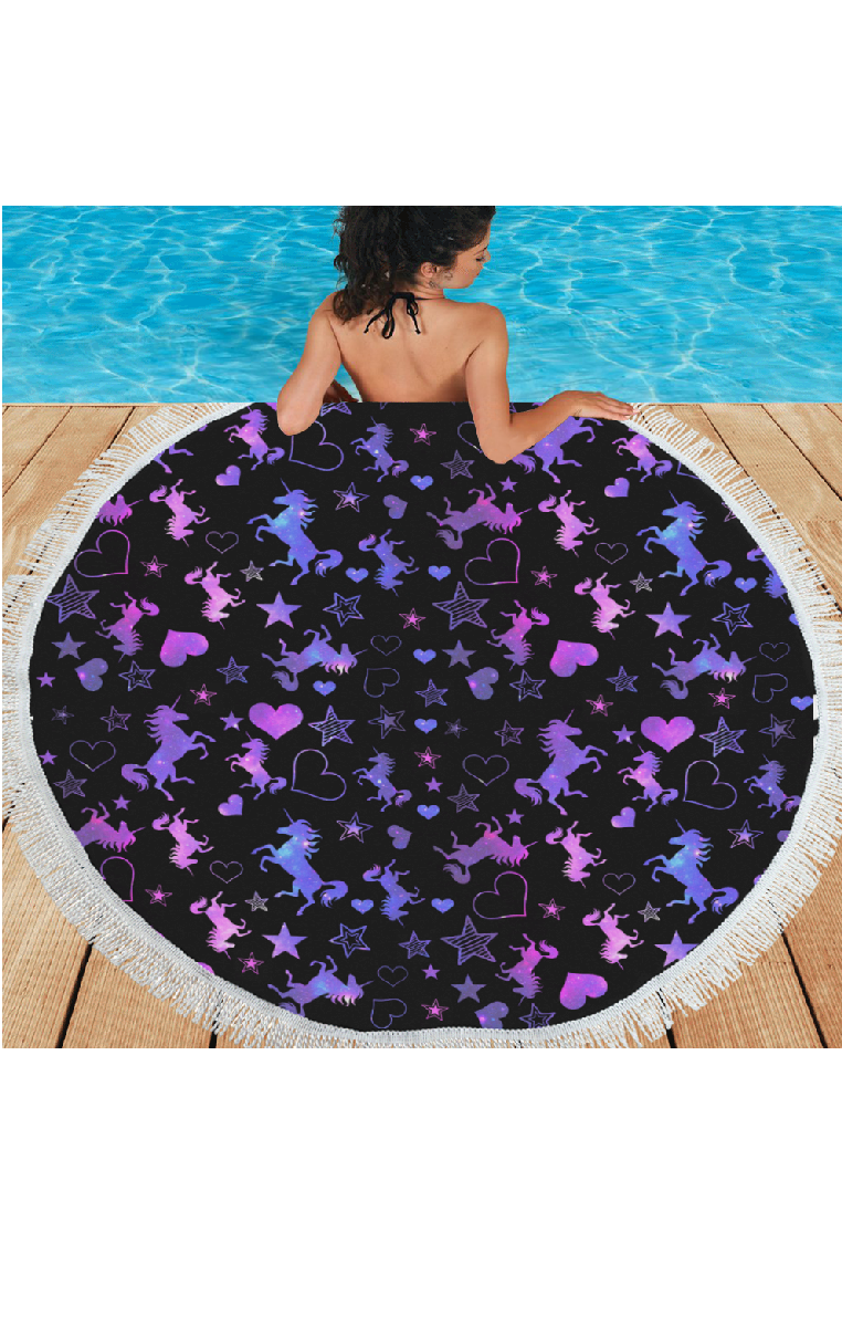 Galaxy Unicorn Area Rug/Beach Mat