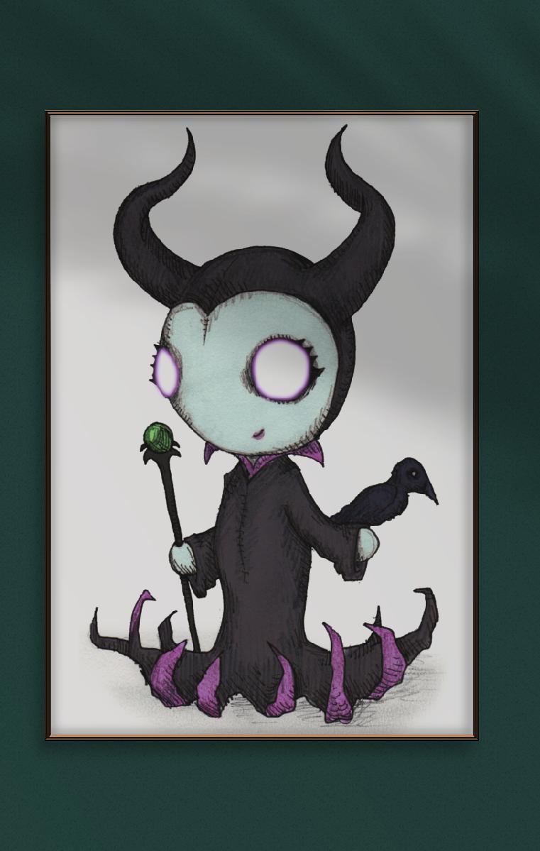 Maleficent A4 Print