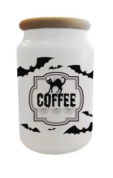 Batty Coffee Jar