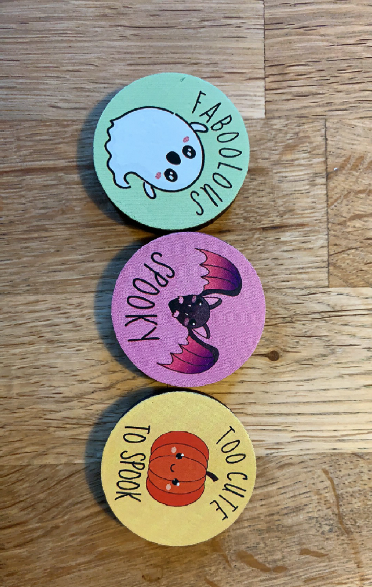 Set Of 3 Spooky Magnets