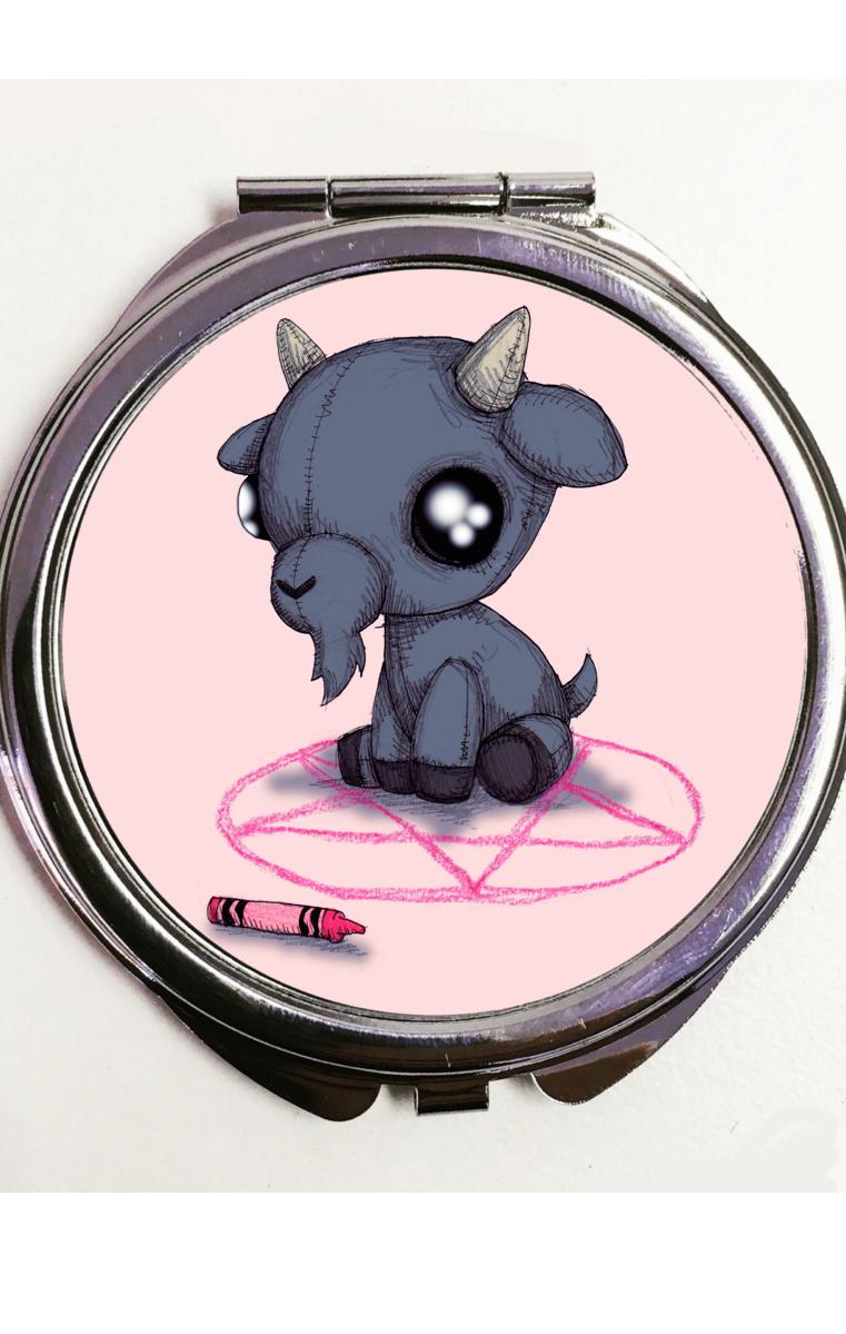 Baby Baphomet Pocket Mirror