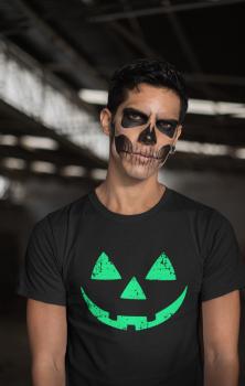 Pumpkin Face Mens T Shirt