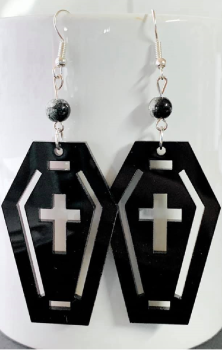 Coffin Crackle Earrings