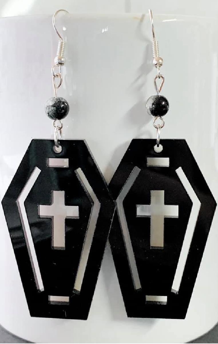 Coffin Crackle Earrings