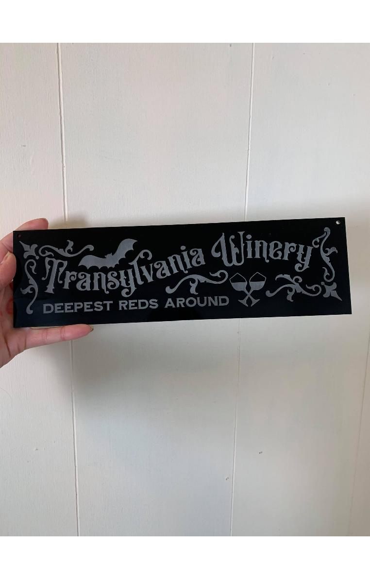 Transylvania Winery Sign
