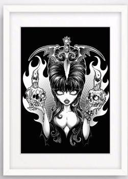 Mistress Of The Dark A4 Print