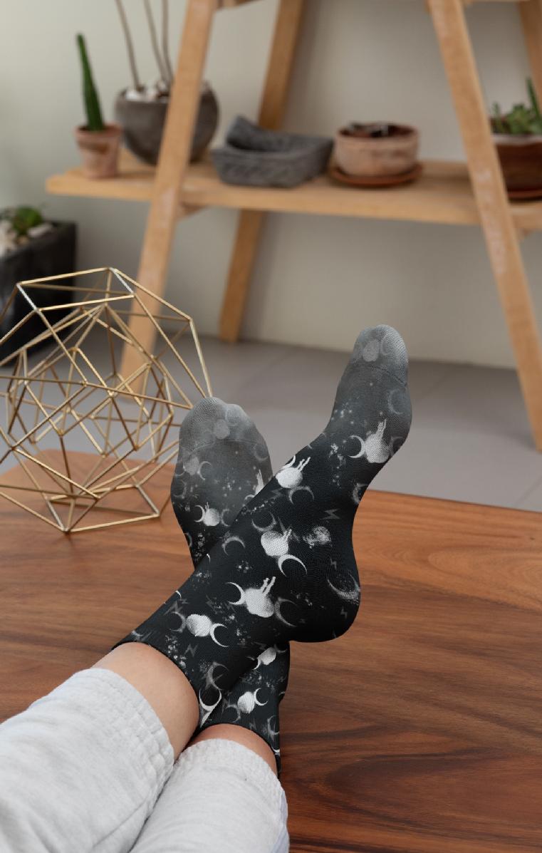 Thunder Moon Socks
