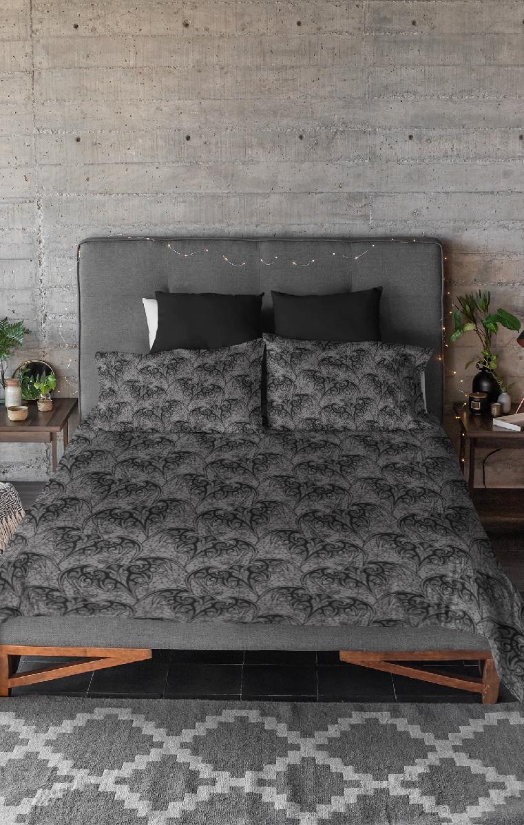 Lace Bats Duvet And Pillow Case