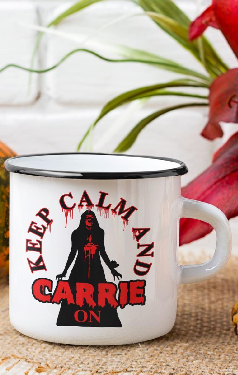 Keep Calm And Carrie On Enamel Mug