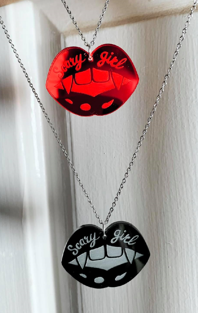 Scary Girl Necklace