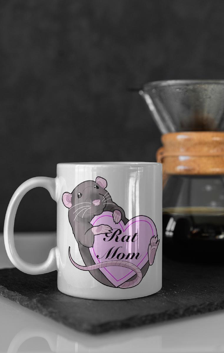 Rat Mom Ceramic Mug