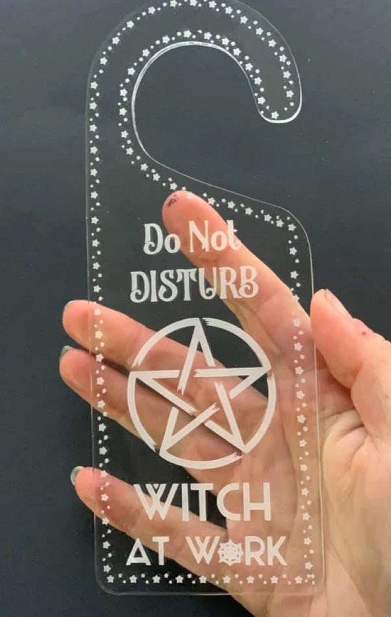 Witch At Work Door Hanger