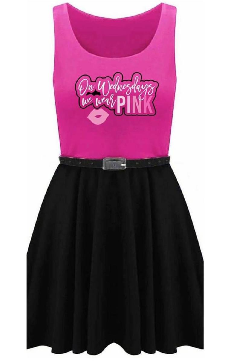 On Wednesdays We Wear Pink Skater Dress