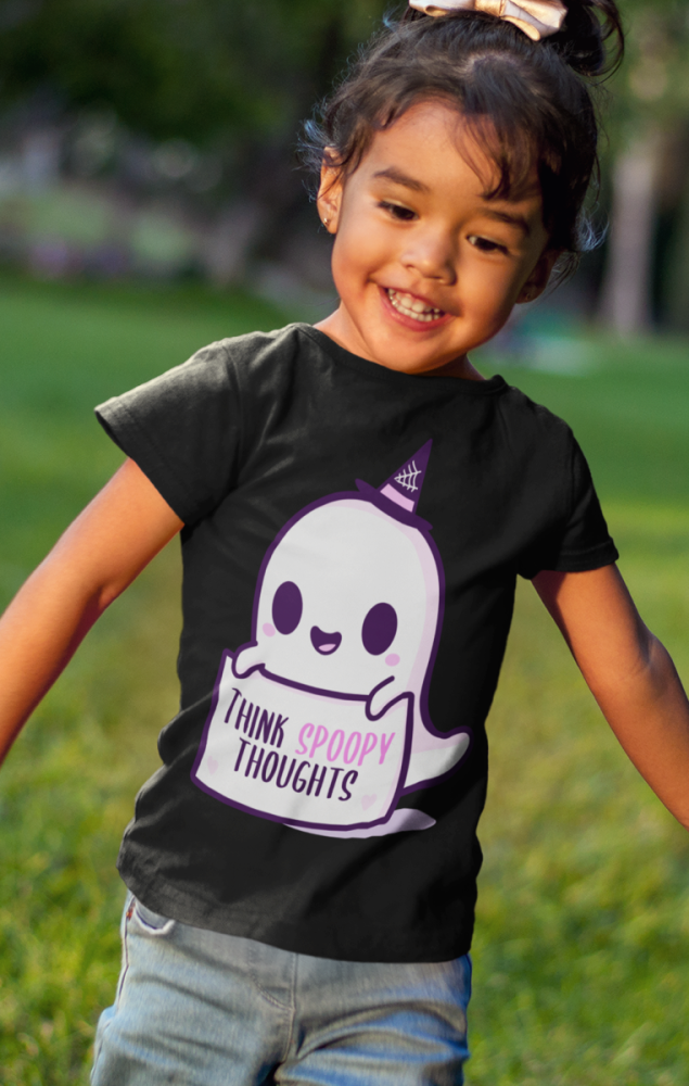 Think Spoopy Thoughts Kids Tshirt
