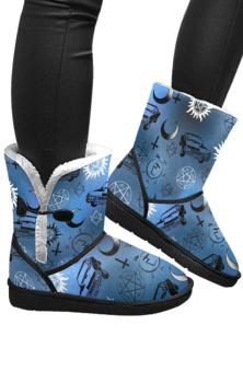 Supernatural Blue Snow Boots