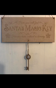 Santa's Magic Key - Decorate it yourself
